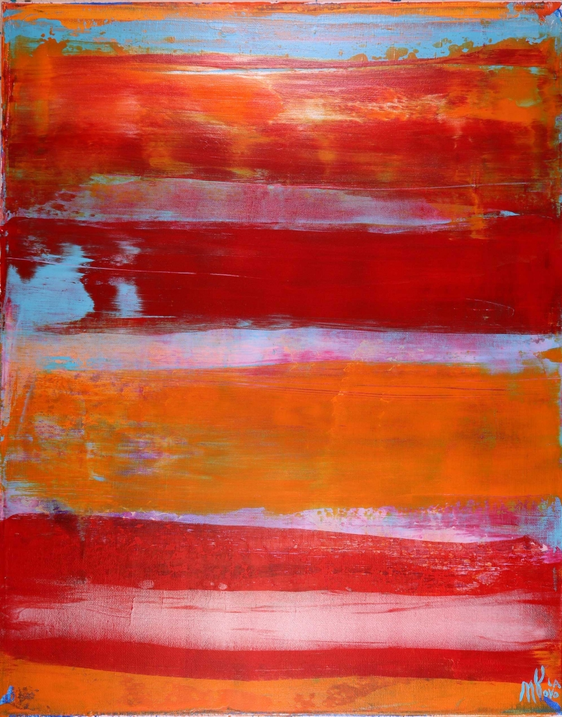 SOLD - Luminance Spectra-Abstract Colorfield (2017) Abstract Acrylic painting by Nestor Toro