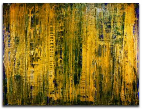 Just like honey (2018) Edit Mixed-media painting by Nestor Toro - SOLD