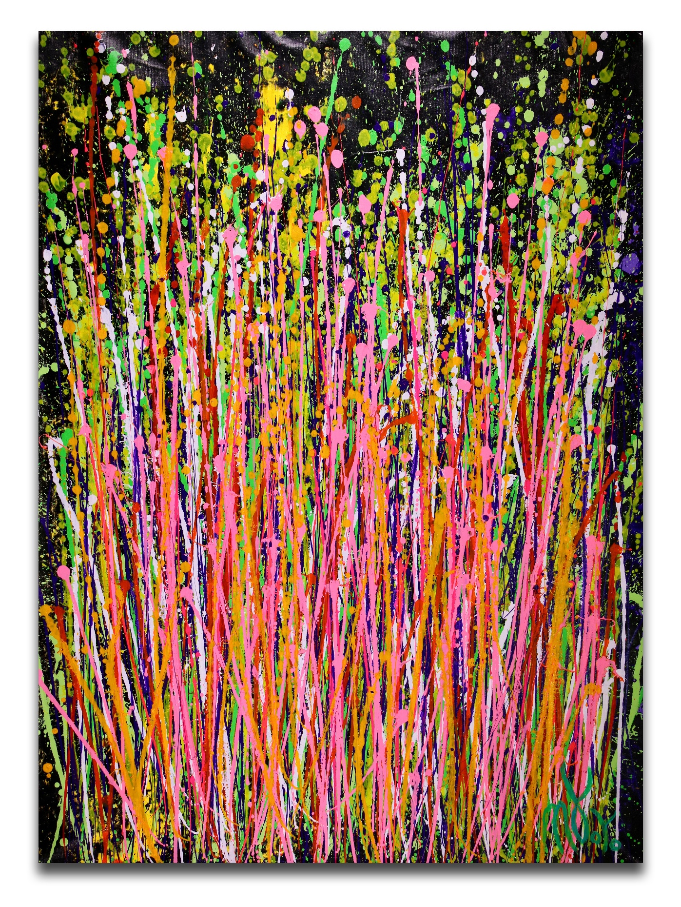 Consciousness Garden (2018) Abstract Acrylic painting by Nestor Toro