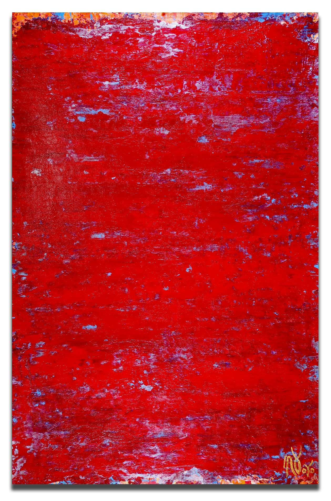 Petrified Red (2018) Abstract Acrylic painting by Nestor Toro