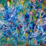 SOLD - Blue Reunion by Nestor Toro sold to a collector in New York