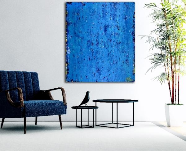 Alma Azul (2018) Abstract Acrylic painting by Nestor Toro