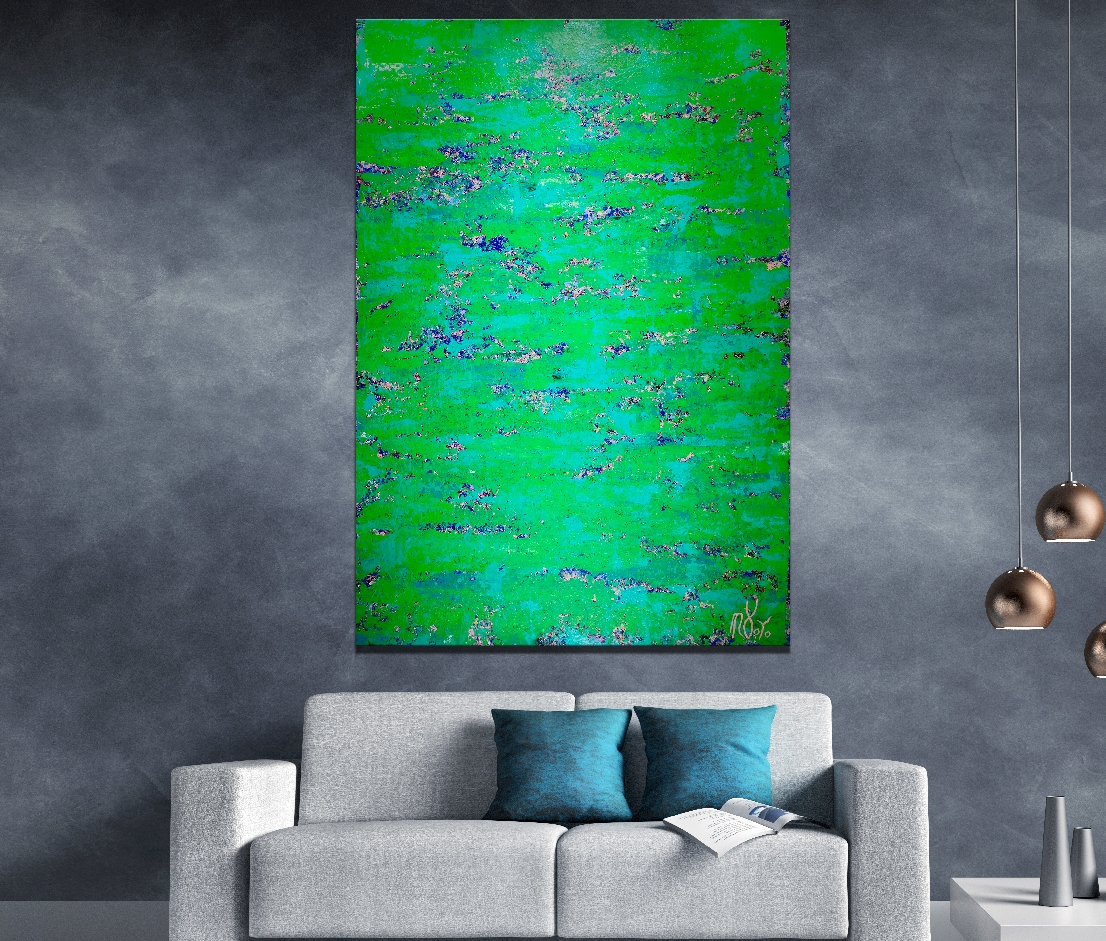 Full Image / Emerald Spectra by Nestor Toro (2019) 70 x 48 inches