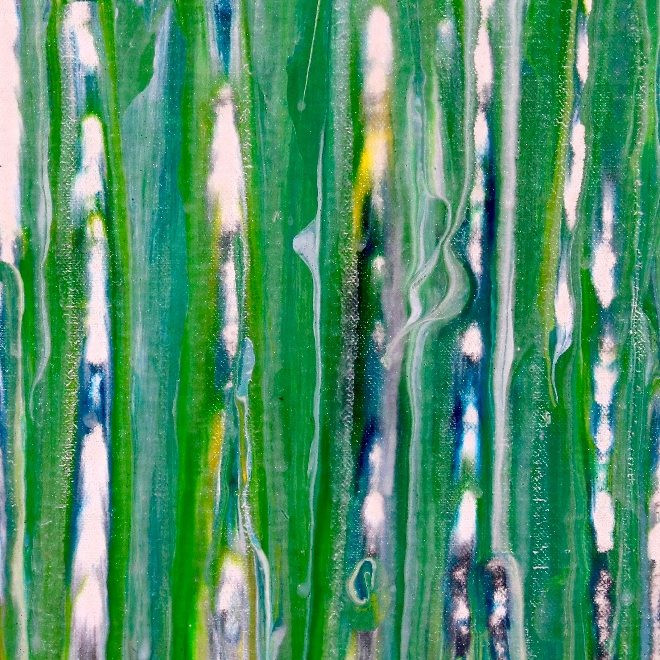 DETAIL- A closer look - Shimmering forest by Nestor Toro (2019) Abstract Acrylic painting by Nestor Toro