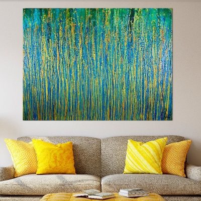 Under the morning sun - abstract painting by Nestor Toro