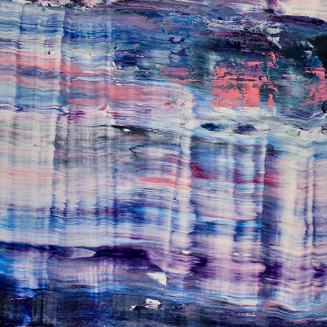 DETAIL-Sky Panorama ( turbulence) (2019) Abstract Acrylic painting by Nestor Toro