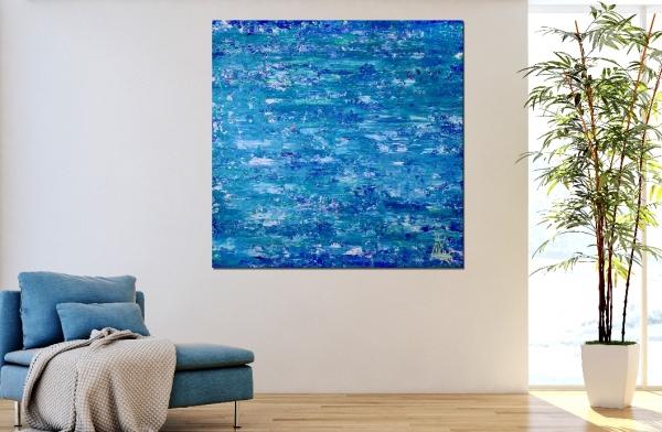 Blue Satin Waves by Nestor Toro