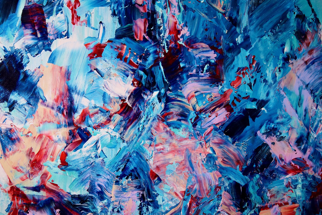 CLOSE UP - Endlessly Blue (Red and Purple Mirrors) By Nestor Toro