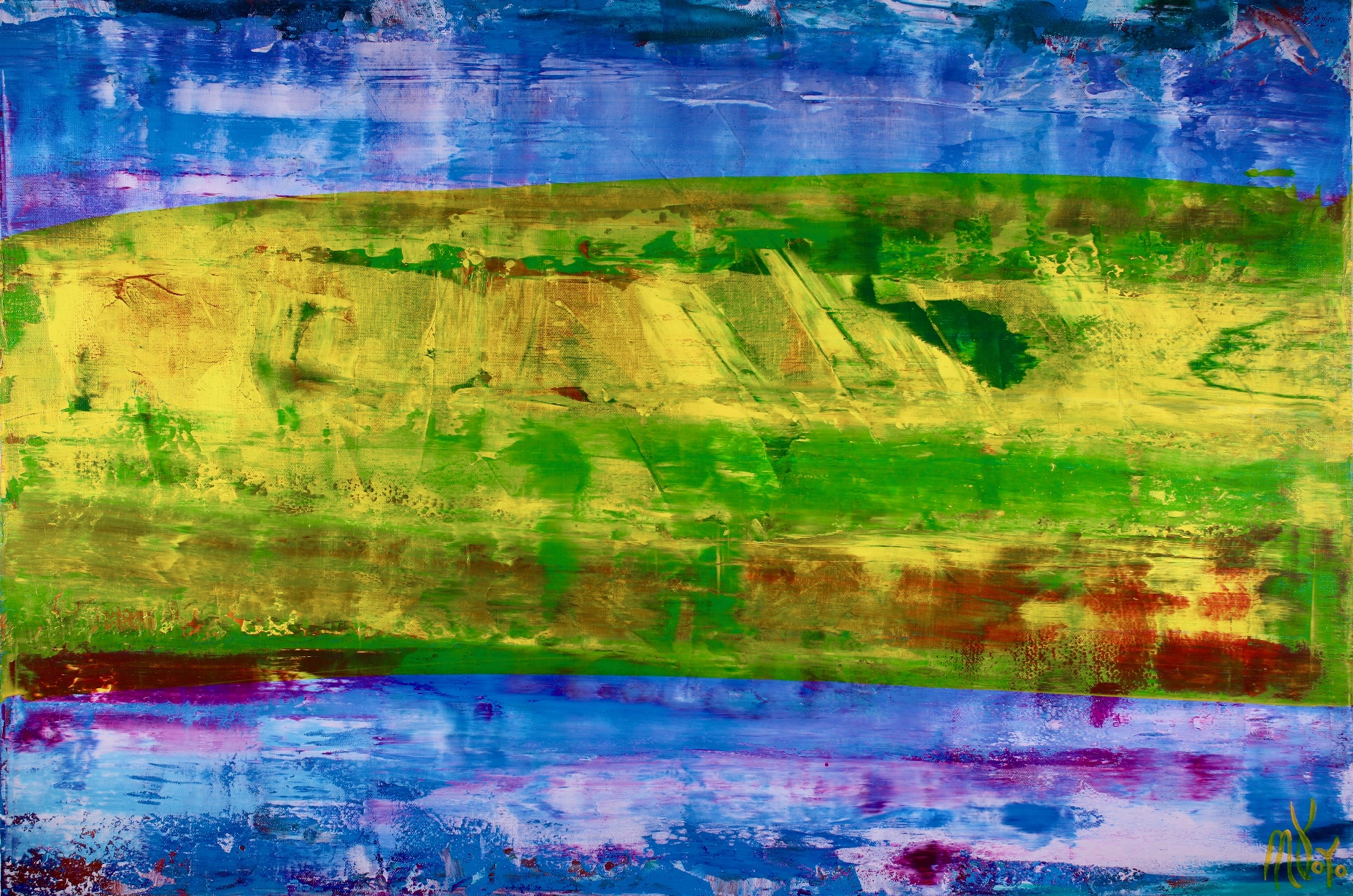 Full Image - Detail - Abstract Landscape  Aerial west coast view by Nestor Toro