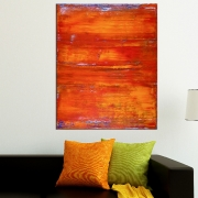 SOLD - Painting Detail - Sunset Paradise (Orange Spectra) by Nestor Toro