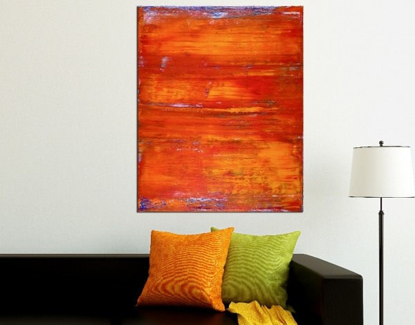 SOLD - Painting Detail - Sunset Paradise (Orange Spectra) by Nestor Toro