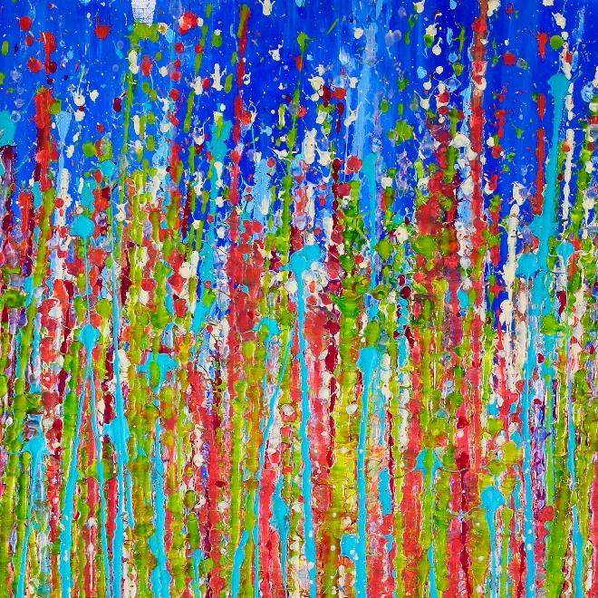 DETAIL- Awakening Garden 3 by Nestor Toro - Ready to hang 24x36 inches