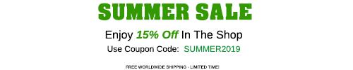 Enjoy 15% Off This Summer!