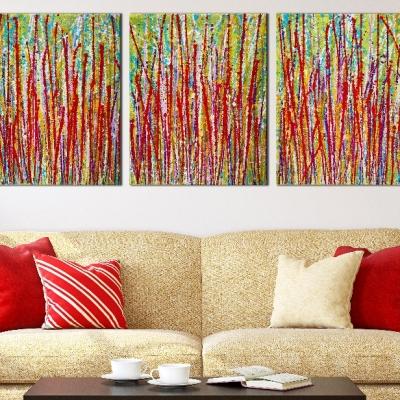 Interrupted Panorama 8 by Nestor Toro - Triptych